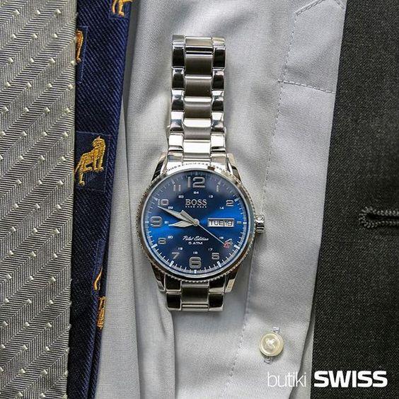 W pracy obudź w sobie Boss'a. #HugoBoss'a ;). #office #elegant #businessman #watch #zegarek #zegarekHugoBoss #HugoBossWatch #watches #blue #elegance #business #classy #butiki #swiss #butikiswiss