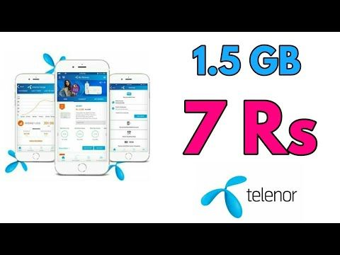 Exclusive Offer 1 5 Gb Internet In 7 Rs Telenor Telenor Offer Package Youtube Internet Packages Internet Offer