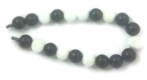 Black/White Baked Painted 12mm Glass Round Beads mix (20)  Silverdawn US $1.50