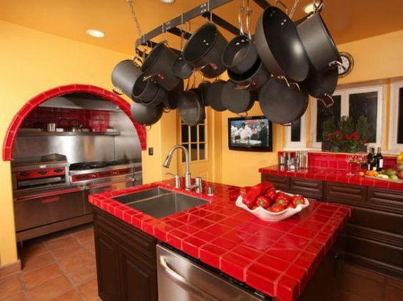 Lot central cuisine ikea et autres l 39 espace de cuisson - Ilot central cuisine rouge ...