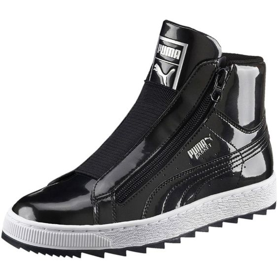 Puma Basket Metallic Winter Mid Top Sneakers