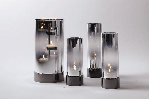 Windlichtglas teelichtzylinder lichtermeer lampe for Trio miroir partylite