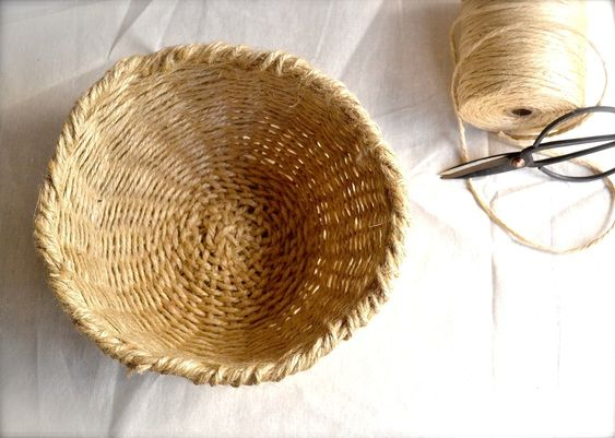 How To Weave A Basket With Rope : Diy woven bowl basket the hope craft stores and weaving