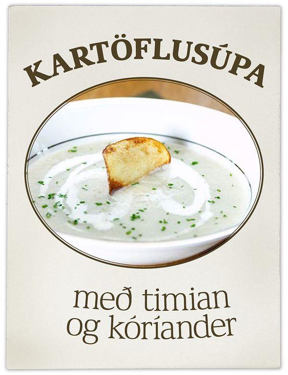 Kartöflur eru oftast notaðar sem meðlæti en henta líka mjög vel í súpur. Þessi súpa er einföld, bragðgóð, saðsöm og ódýr.