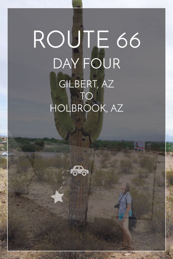4/14 days of Route 66. Gilbert, AZ to Holbrook, AZ #route66 #roadtrip | maddily