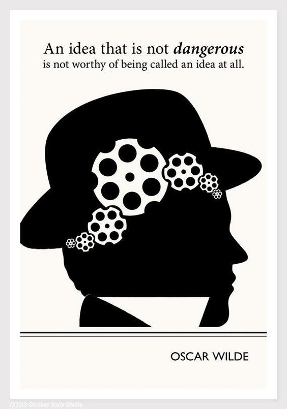 Modern Art Prints, Oscar Wilde Quote Minimalist Poster, Large Wall ...