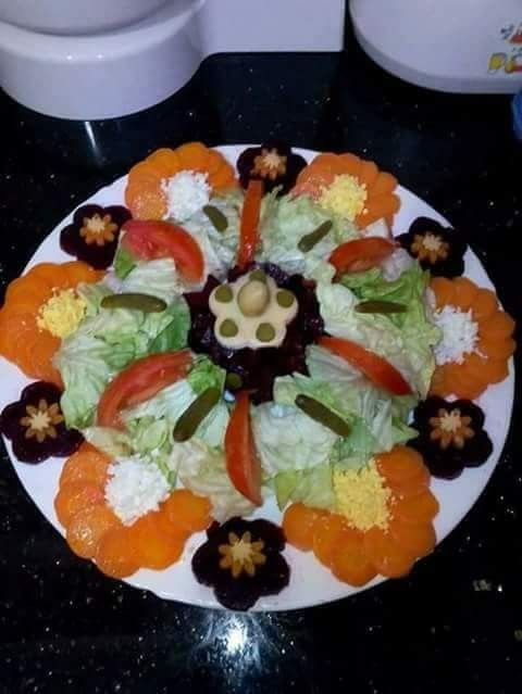 Décoration de salade | FOOD ART | Pinterest | Ensaladas, Comida