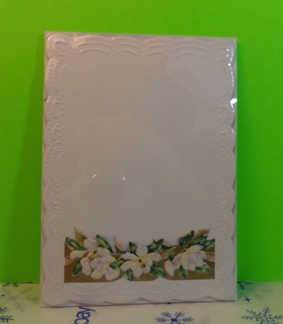 Magnolia Flowers Stationery And Envelopes Sealed Scalloped Edges | eBay
