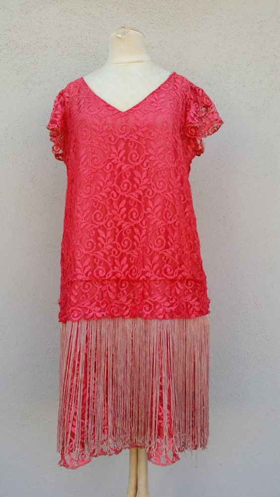 Hey, I found this really awesome Etsy listing at https://www.etsy.com/listing/212617147/vintage-red-flapper-dress