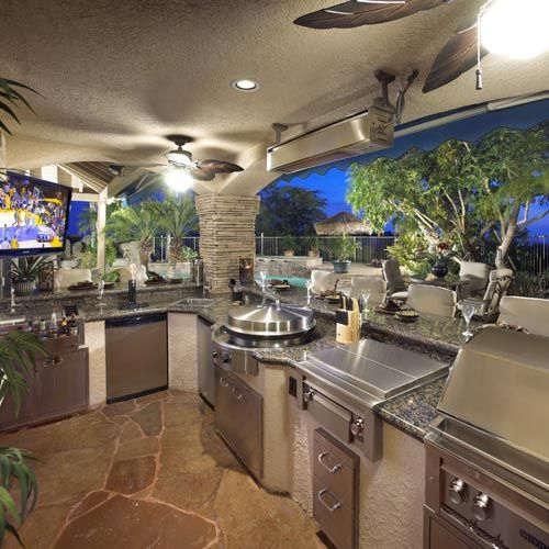 Poolside party time outdoor kitchen