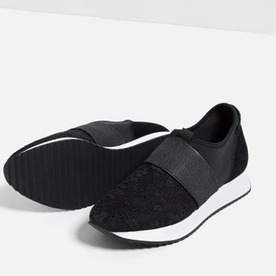 Image 1 of LACE SNEAKERS from Zara
