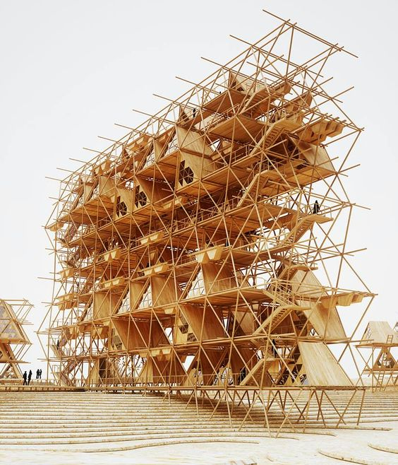 """""""One with the birds"""" tent-hotel structure with an... - Imaginario sugestivo"""