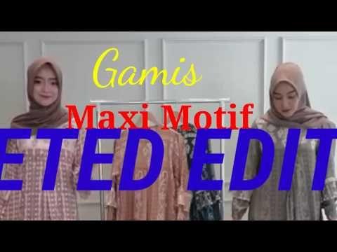 Gamis Maxi Motif Terbaru Youtube Youtube Butik Sign