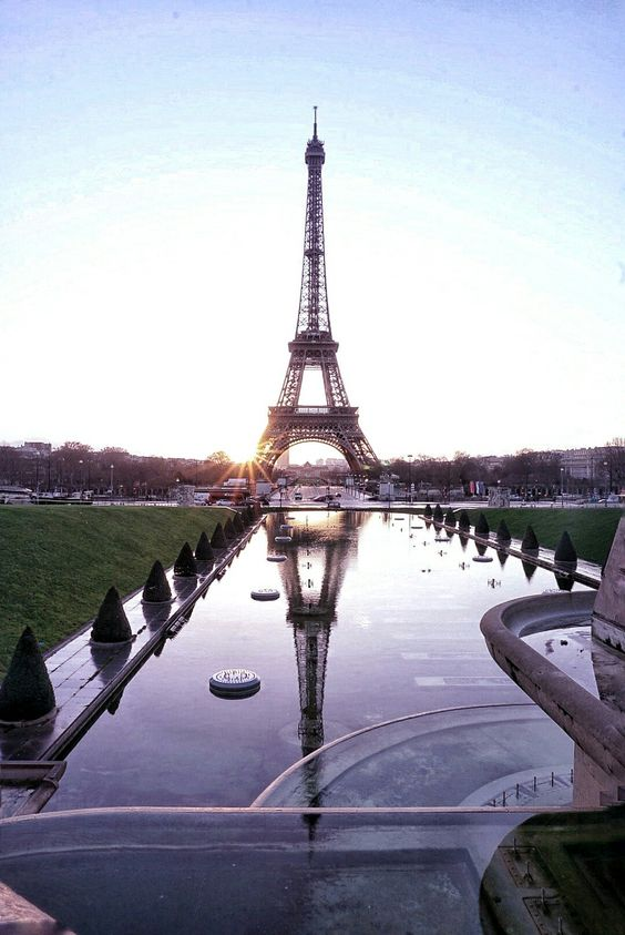 sunrise over paris