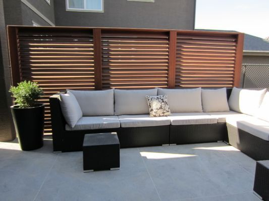 Slatted Privacy Screen Panels, Outdoor Panels For Patio