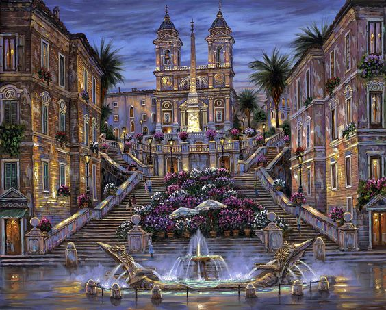 """""""The Spanish Steps ~ Rome, Italy"""" ~ by Robert Finale:"""