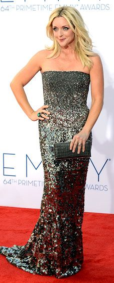 Jane Krakowski wore a crystal sequin Kaufman Franco gown at the 2012 Emmy Awards
