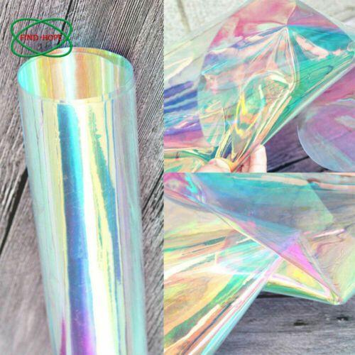 Iridescent Holographic Clear Transparent Pvc Fabric Vinyl Material Bow Craft A4 Pvc Fabric Vinyl Fabric Decor Crafts