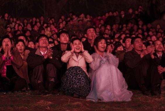 North Koreans celebrate birth of the late Kim Il Sung