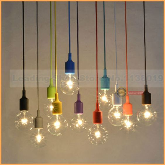 pas cher nouveau design e27 lampe prise chandelier luminaire suspendu ligne de couleur titulaire. Black Bedroom Furniture Sets. Home Design Ideas