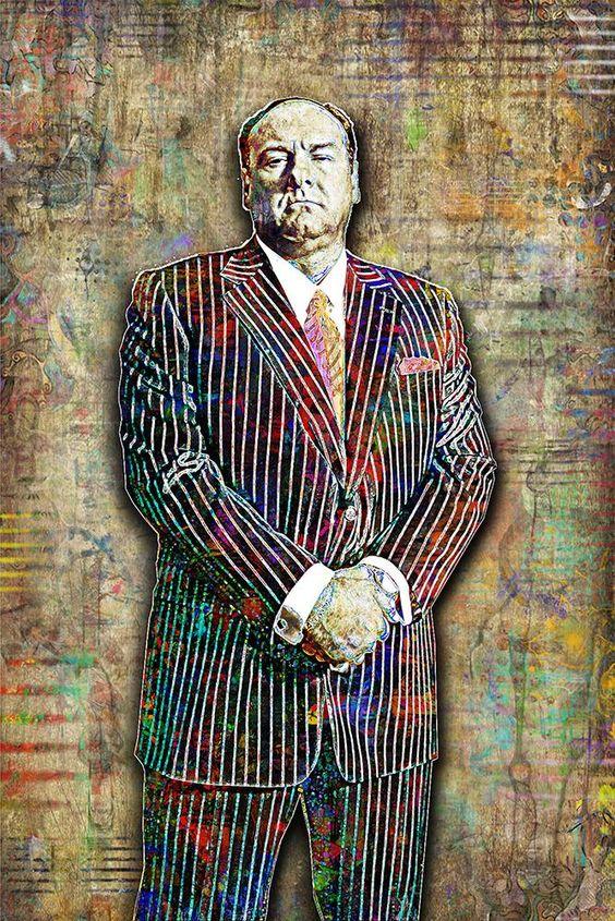 Tony Soprano Poster, James Gandolfini Tribute Fine Art – McQDesign