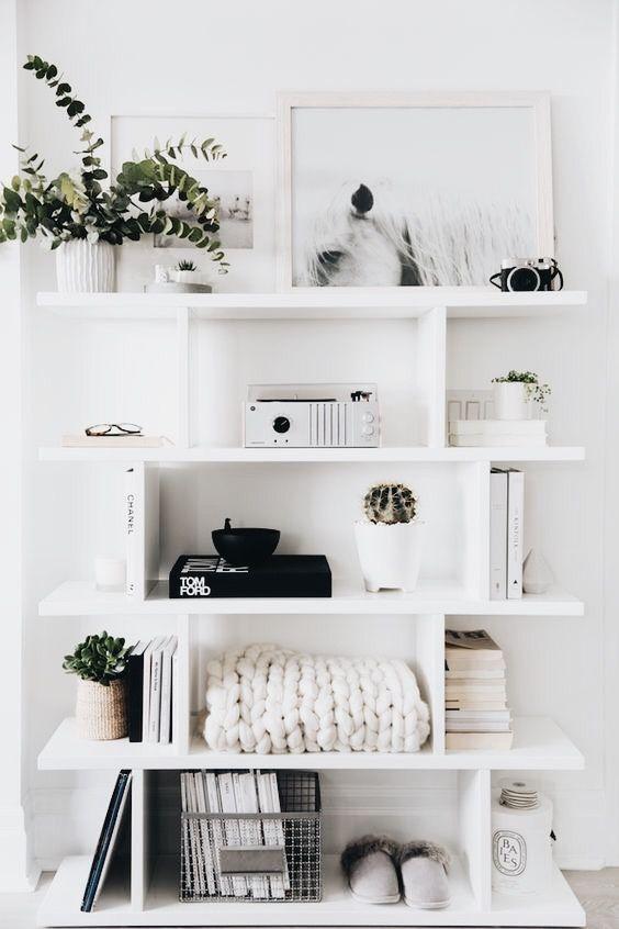 Great Look For A Small Bookshelf Unit Home Decor Interior Minimalism Interior #shelf #unit #for #living #room