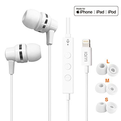 Apple Mfi Certified In Ear Headphones And Earbuds With These Earbuds Are As Good As The Original Ones That Came With My Ipho Earbuds In Ear Headphones Mfi