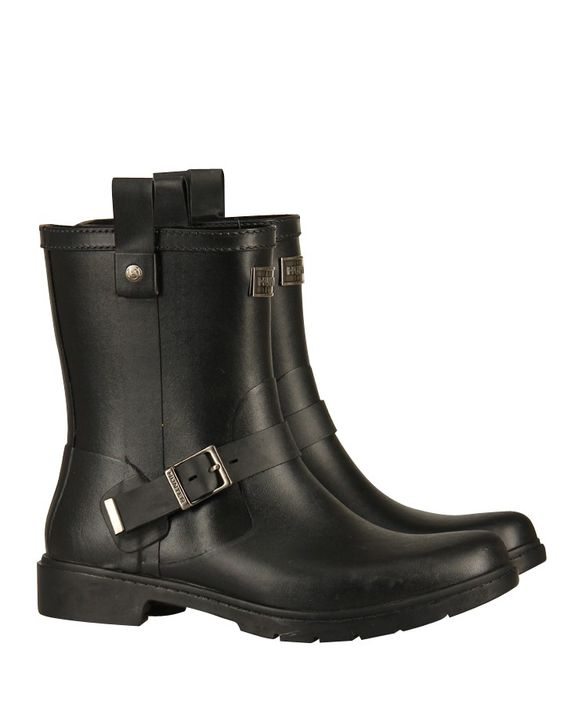 #Hunter - Wellingtons im Biker-Look ' Shoreditch' Schwarz  at Stierblut