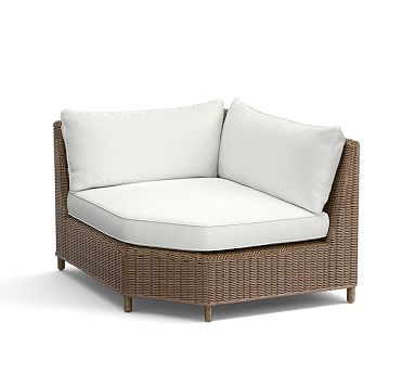 Torrey All-Weather Wicker Sectional Wedge Corner - Natural