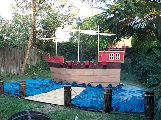 Ideas for my Relay for Life pirate ship---but it will never look this perfect!!!