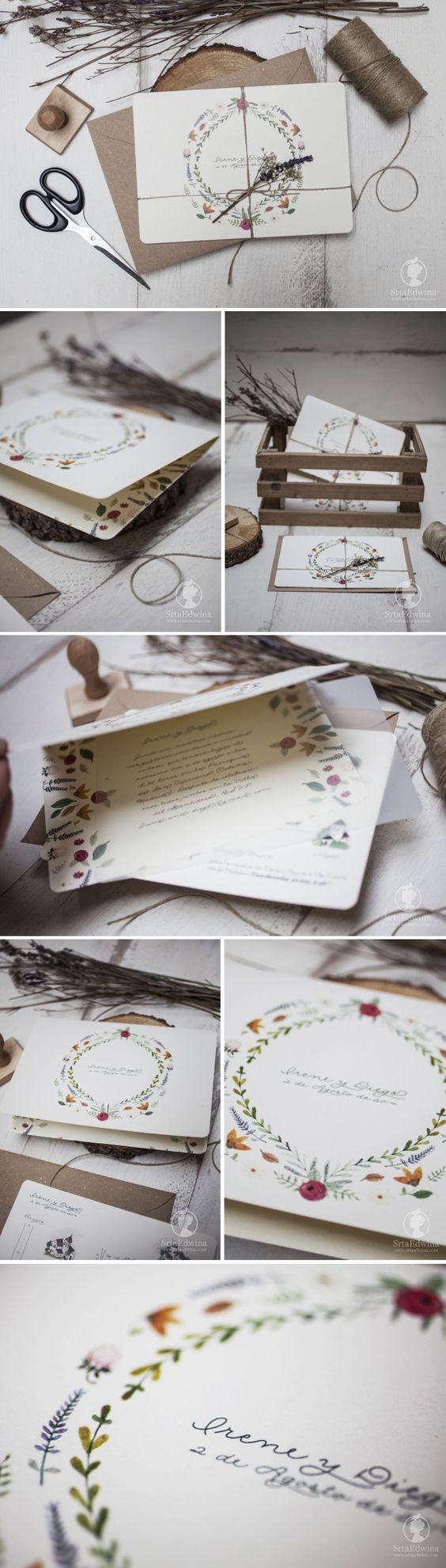 Invitaciones de boda ilustradas, invitaciones de boda románticas, wedding stationery, wedding invites
