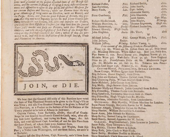 Benjamin Franklin's 'Join or Die,' published in his Pennsylvania Gazette on May 9, 1754, is one of the earliest known political cartoons. It called on the British colonies to unite with England against the French in the Seven Years War. Later, it would resurface as a symbol of the colonies' unity in the struggle for independence from England.