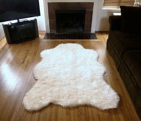 Super Plush Faux Polar Bear Rug Bear Rug Faux Sheepskin Rug Faux Fur Rug