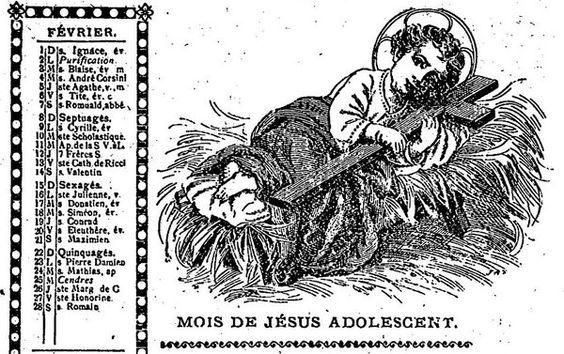 Doooonc Jésus dort dans son lit avec un doudou croix. #HistoireDeLHabituer?