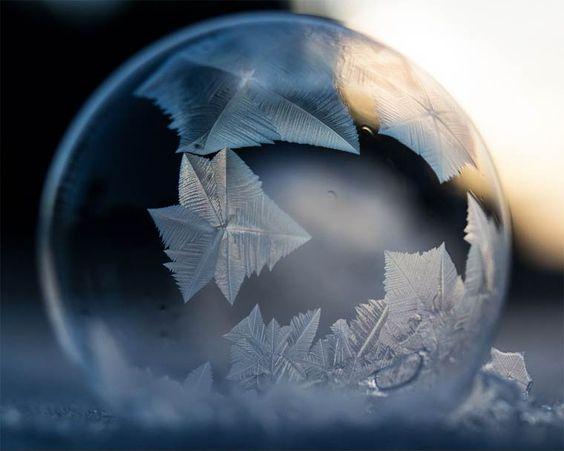 Des bulles de glace