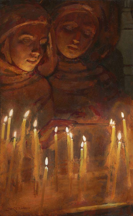 """Lighting Candles"" by J Kirk Richards"