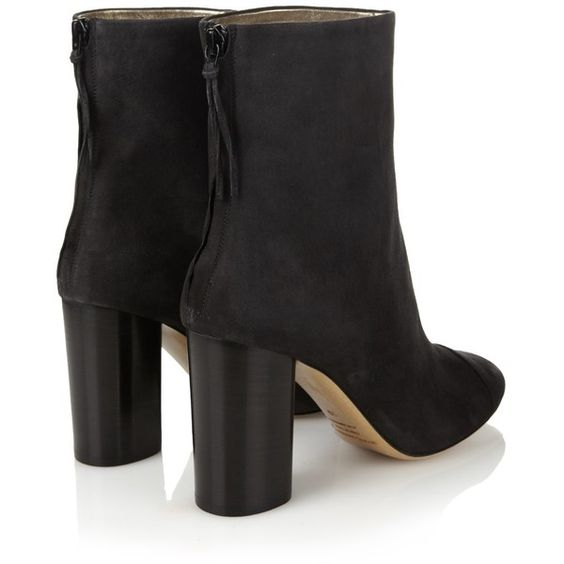 Isabel Marant Grover suede ankle boots ($900) ❤ liked on Polyvore ...