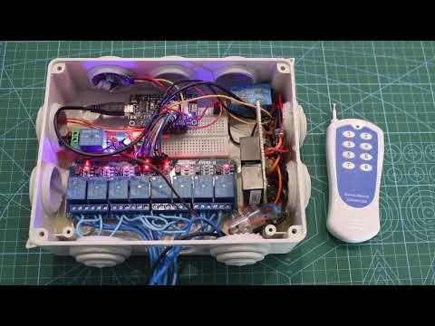 Alexa 8ch Relay Voice Control 433mhz Rf Remote Control Nodemcu Esp8266 Sinric Alexa Skill Youtube Alexa Skills Alexa Voice Arduino