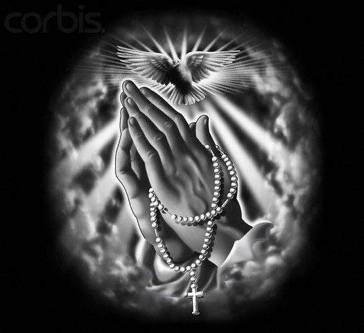 Praying Hands with Rosary