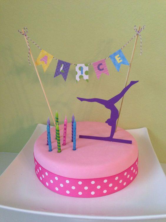 Easy gymnastic cake