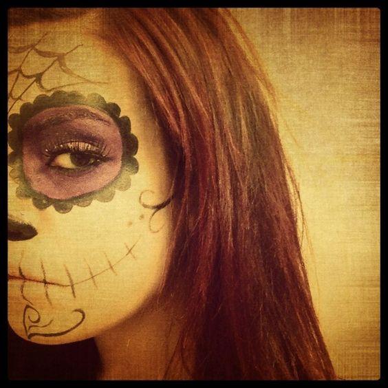 Makeup run. Dia de Los muertos