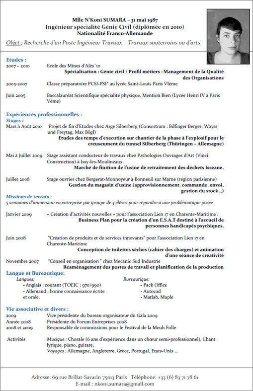 Curriculum Vitae Francais Curriculum Vitae Template Curriculum Vitae Cv Template