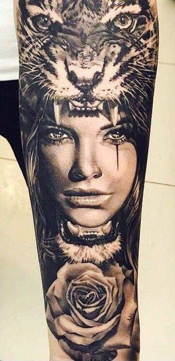 Indianer Frau Tattoo Indianer Tattoo Indisches