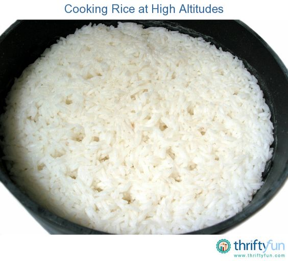 This is a guide about cooking rice at high altitudes. Cooking at high altitudes can be tricky. Because the air is dryer and the pressure lower, water boils at a lower temperature and moisture evaporates into the air more quickly. This makes cooking even basic items such as rice a challenge.