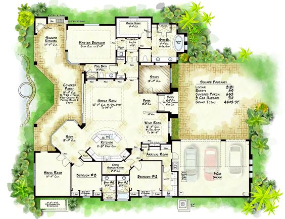 Home lakes and we on pinterest for Florida custom home plans