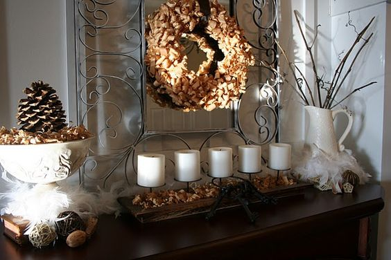 winter mantel | Winter Wonder: Mantels, Mantel Decorating, Winter Wonder, Decorating Ideas, Winter Decorating