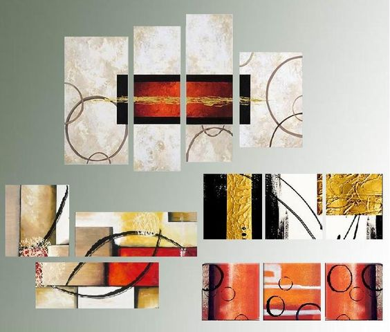 Pictures on pinterest for Cuadros tripticos abstractos