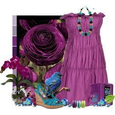 LOLO Moda: Purple dress
