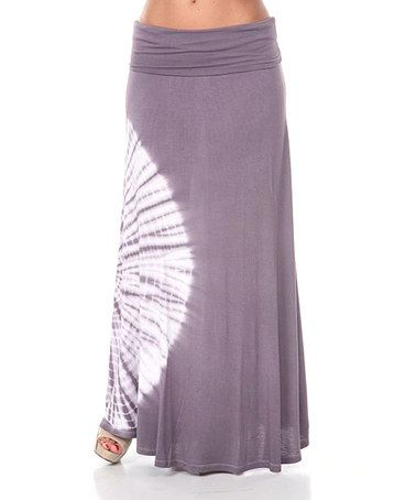 White Mark Charcoal Tie-Dye Maxi Skirt | Maxi skirts, Skirts and ...