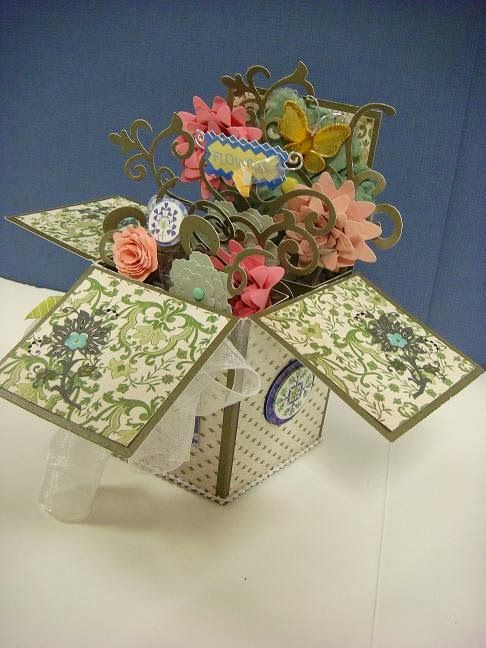 Carolyn's Creative Corner: Card-in-a-Box! Link to Tutorial to make the box.